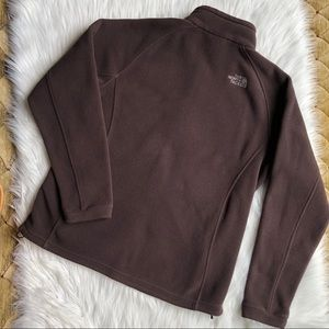 Women's brown zip up north face jacket size XL